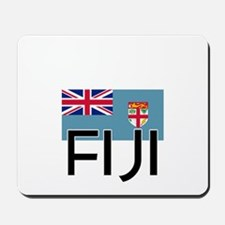 I HEART FIJI FLAG Mousepad