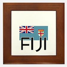 I HEART FIJI FLAG Framed Tile