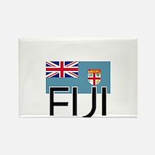 I HEART FIJI FLAG Rectangle Magnet
