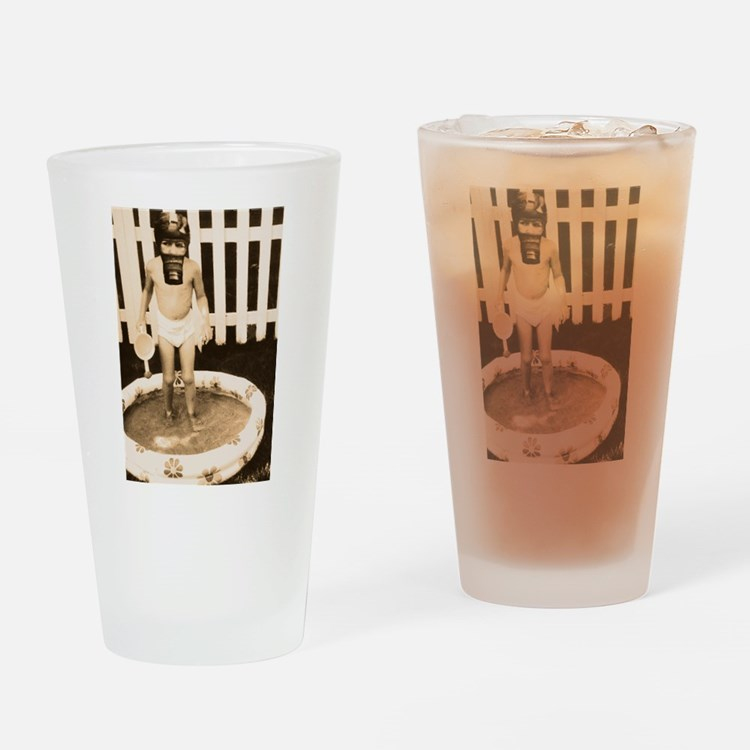 Gas mask Play Drinking Glass