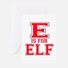 E is for Elf Greeting Cards (Pk of 10)