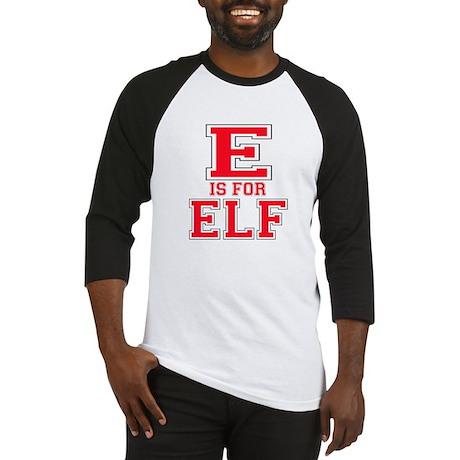 E is for Elf Baseball Jersey