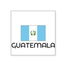 I HEART GUATEMALA FLAG Sticker