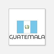 I HEART GUATEMALA FLAG Sticker