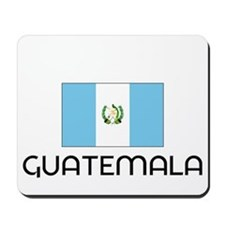 I HEART GUATEMALA FLAG Mousepad