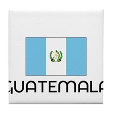 I HEART GUATEMALA FLAG Tile Coaster