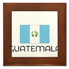 I HEART GUATEMALA FLAG Framed Tile