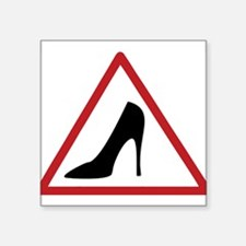 High Heel Lady Driver Window Decal Sticker