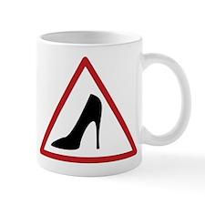 High Heel Lady Driver Window Decal Mug