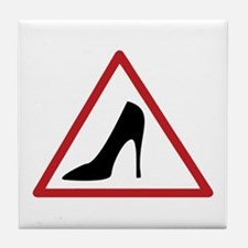 High Heel Lady Driver Window Decal Tile Coaster