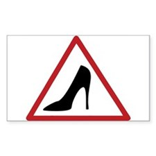 High Heel Lady Driver Window Decal Decal