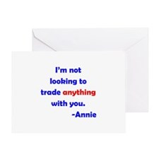 Not Trading With You Greeting Card