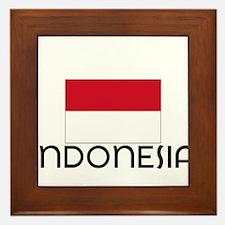 I HEART INDONESIA FLAG Framed Tile