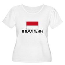 I HEART INDONESIA FLAG Plus Size T-Shirt