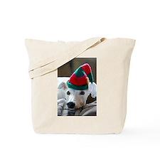 Greyhound Elf Tote Bag