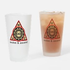 Evolve and Ascend Drinking Glass