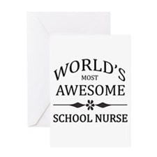 World's Most Awesome School Nurse Greeting Card