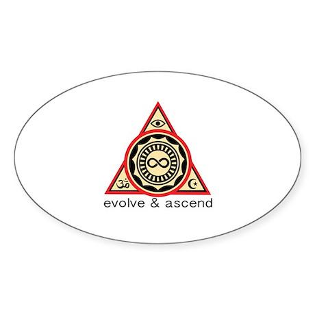 Evolve and Ascend Logo Sticker
