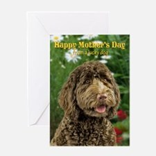 Labradoodle Mother's Day Card