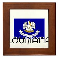 I HEART LOUISIANA FLAG Framed Tile
