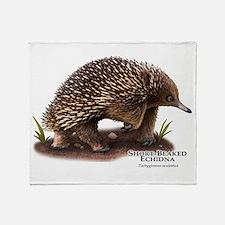 Short-Beaked Echidna Throw Blanket