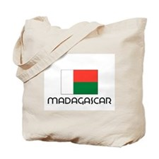 I HEART MADAGASCAR FLAG Tote Bag
