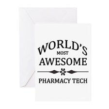 World's Most Awesome Pharmacy Tech Greeting Cards