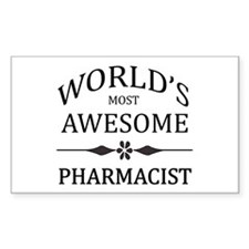 World's Most Awesome Pharmacist Decal