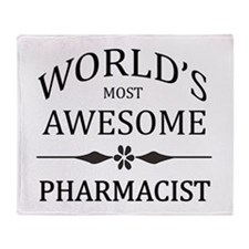 World's Most Awesome Pharmacist Throw Blanket