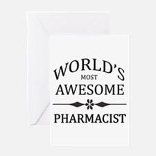 World's Most Awesome Pharmacist Greeting Card