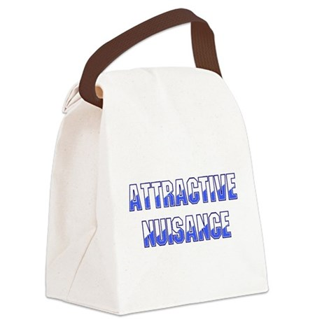Attractive Nuisance (Blue) Canvas Lunch Bag
