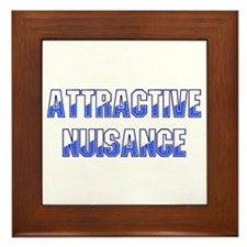 Attractive Nuisance (Blue) Framed Tile