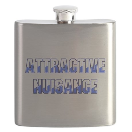 Attractive Nuisance (Blue) Flask