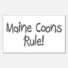 Maine Coon cats rule Rectangle Decal