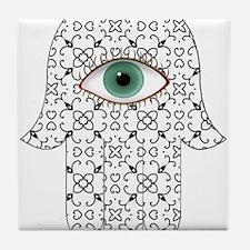 Hamsa Hand 17 Tile Coaster
