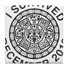 I survived the Mayan calendar Tile Coaster