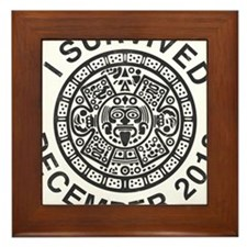 I survived the Mayan calendar Framed Tile