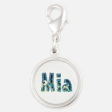 Mia Under Sea Silver Round Charm