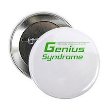 """Genius Syndrome 2.25"""" Button"""