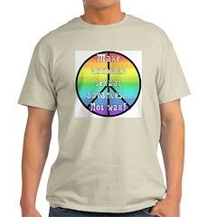 Make ASA not War! Ash Grey T-Shirt