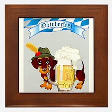 Oktoberfest Daschund with Banner and Beer Stein Fr