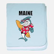 Maine baby blanket