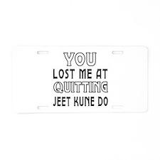 Jeet Kune Do Martial Arts Designs Aluminum License