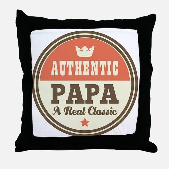 Classic Papa Throw Pillow