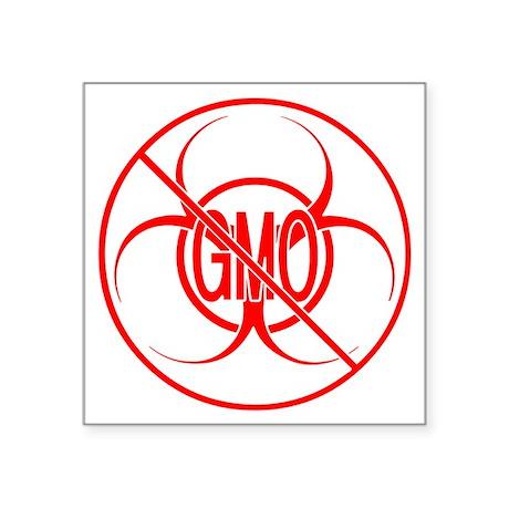 NO GMO Biohazard Warning Toxic Food Sign Sticker