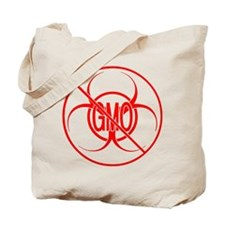 NO GMO Biohazard Warning Toxic Food Sign Tote Bag