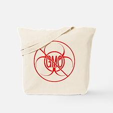 NO GMO Biohazard Warning Toxic Food Sign Tote Bag