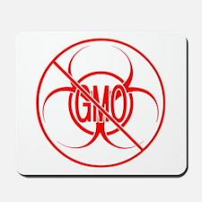 NO GMO Biohazard Warning Toxic Food Sign Mousepad