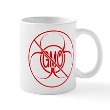 NO GMO Biohazard Warning Toxic Food Sign Mug