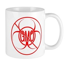 NO GMO Biohazard Warning Toxic Food Sign Mug